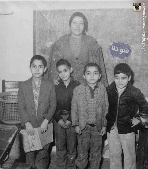 عکس کودکی مهران مدیری در دبستان,مهران مدیری در دبستان