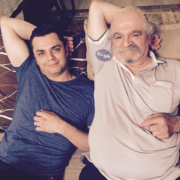 پدر آرش ظلی پور,عکس آرش ظلی پور و پدرش