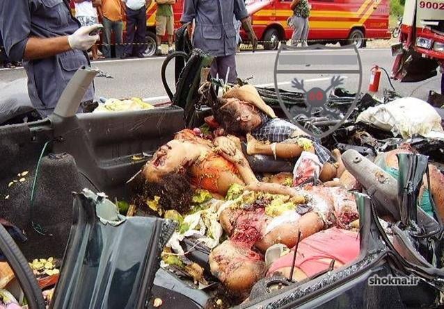 تصادف های دلخراش,تصاویر تصادف های وحشتناک,حوادث مرگبار