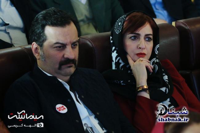 شقایق دهقان و همسرش مهراب قاسمخانی در جشن چلچراغ