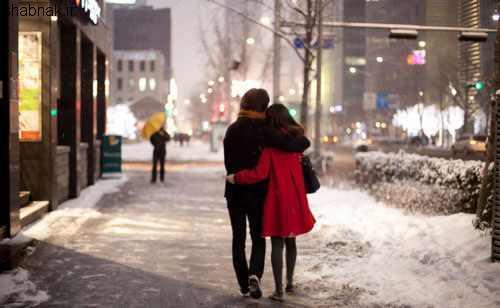 عکس نوشته زمستان و برف برای پروفایل