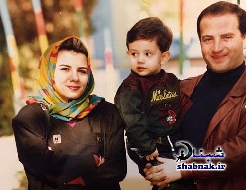 عکس کودکی امیر کاظمی در کنار پدر و مادرش