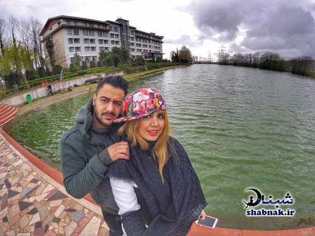 نگین عابدزاده و همسرش احمدرضا خادمیان