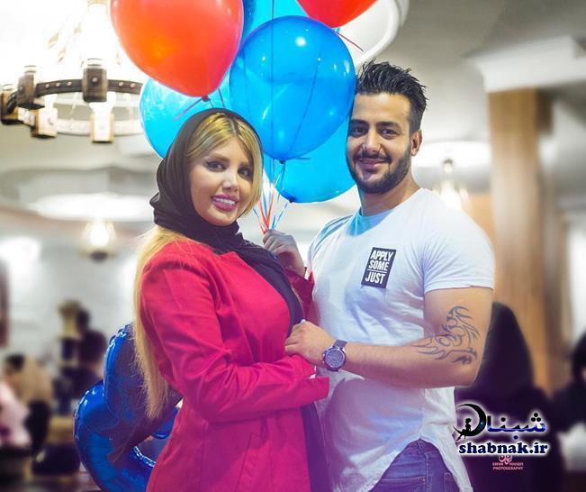 عکس های خصوصی نگین عابدزاده و همسرش