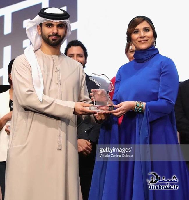 تیپ جالب سحر دولتشاهی در جشنواره فیلم دبی