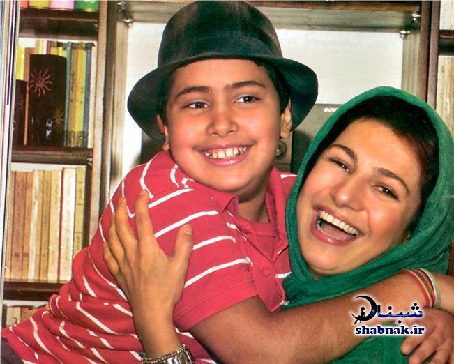 لیلی رشیدی و پسرش سینا