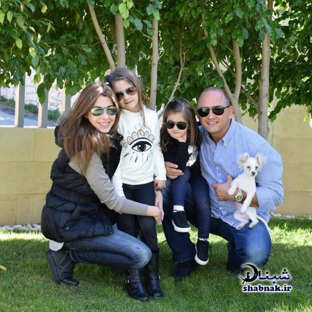 نانسی عجرم همسر و دخترانش