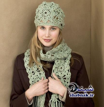 مدل های شیک شال و کلاه دخترانه,کلاه و شال گردن زنانه