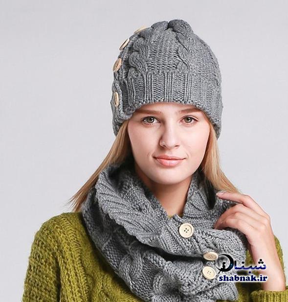 مدل های شیک شال و کلاه,کلاه و شال گردن