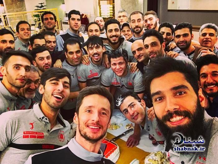 بیوگرافی محمد موسوی,سلفی تیم ملی والیبال ایران