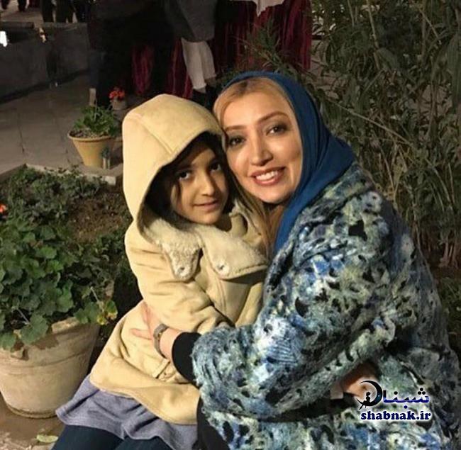 نگار عابدی و دخترش اِما
