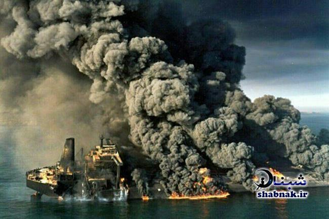 فیلم تصادف کشتی نفتکش سانچی + علت تصادف و غرق شدن