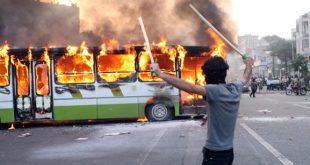 از آتش زدن پاسگاه تا تیراندازی و کشته ها در اعتراضات خیابانی