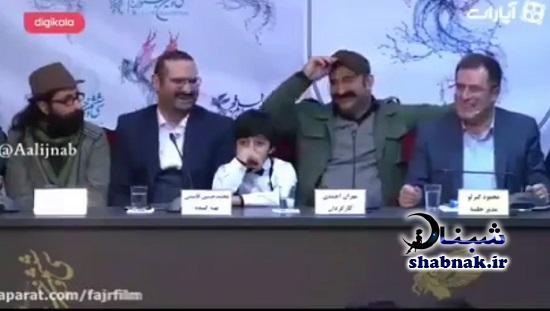 فیلم حرکت غیراخلاقی مهران احمدی در کنفرانس خبری