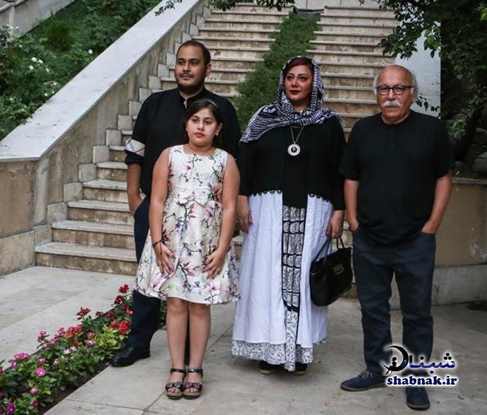 عکس خانوادگی زهرا داوود نژاد و همسرش