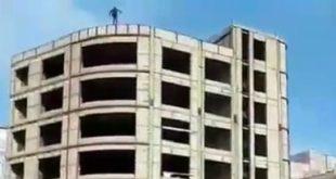 فیلم خودکشی پسر جوان در اردیبل و سقوط از ساختمان