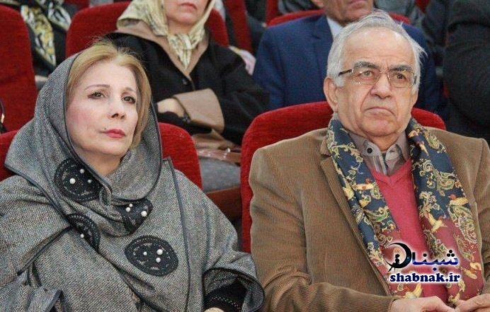 عبدالحسین تهامی نژاد و همسرش امید بهبهانی