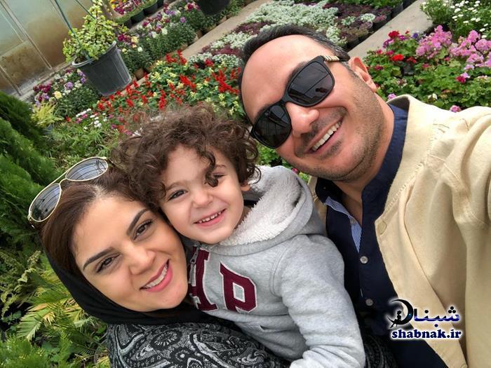 عکس خانواده و همسر احسان کرمی