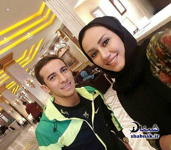 فرشاد احمدزاده و همسرش