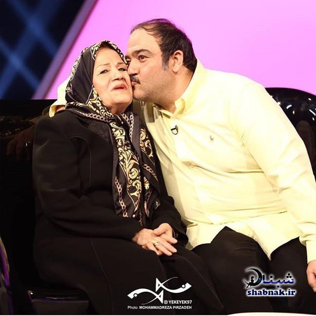 مهران غفوریان و مادرش