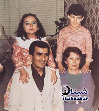عکس خانوادگی پرستو صالحی در کودکی