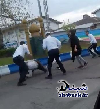 ماجرای کتک زدن پسر توسط پلیس راهنمایی و رانندگی در انزلی