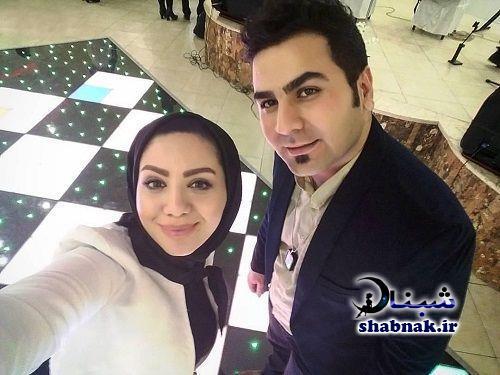عکس مبینا نصیری و همسرش