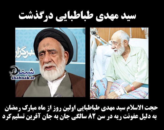 زندگینامه سید مهدی طباطبایی + درگذشت