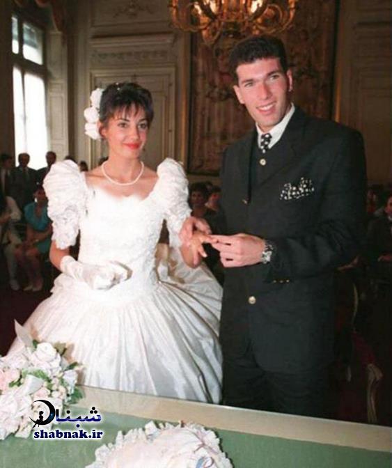 عروسی زین الدین زیدان و همسرش +ماجرای ازدواج و تصاویر