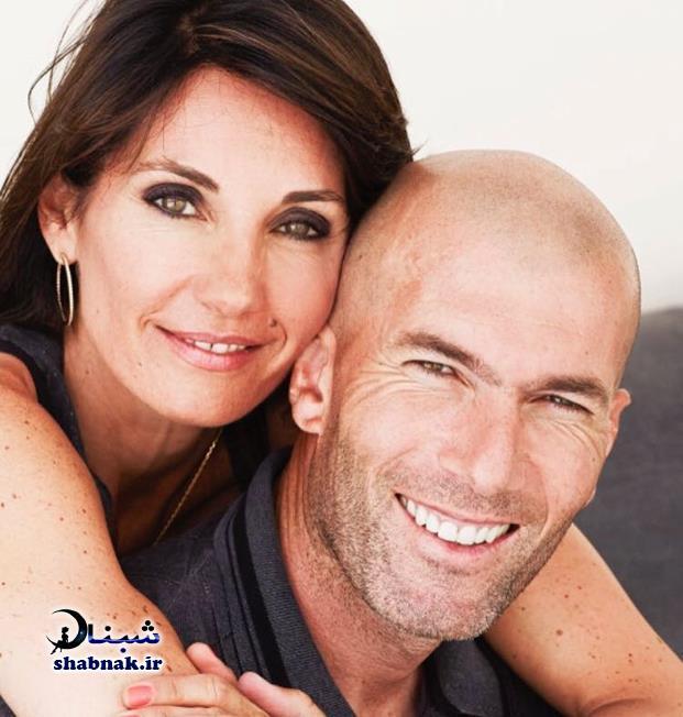 عکس های زین الدین زیدان و همسرش ورونیک