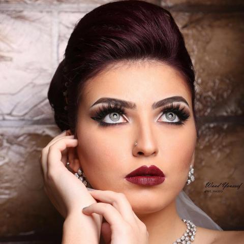 مدل آرایش عروس عربی 2019, آرایش لایت عروس 98