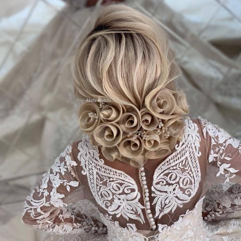 مدل شینیون عروس جدید 2019 - مدل شینیون عروس جدید 98