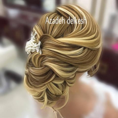 مدل شینیون عروس با موی مشکی | مدل شینیون عروس با موی کوتاه | مدل شینیون عروسی 98