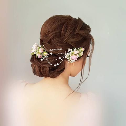 مدل شینیون عروس ساده جدید 2019 | مدل شینیون عروس بالای سر