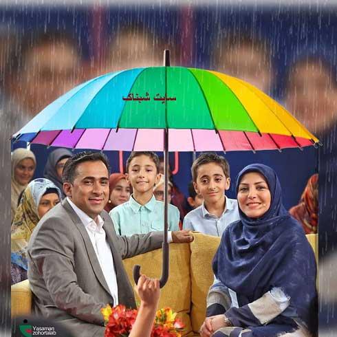 داوود عابدی و همسرش المیرا شریفی در خندوانه