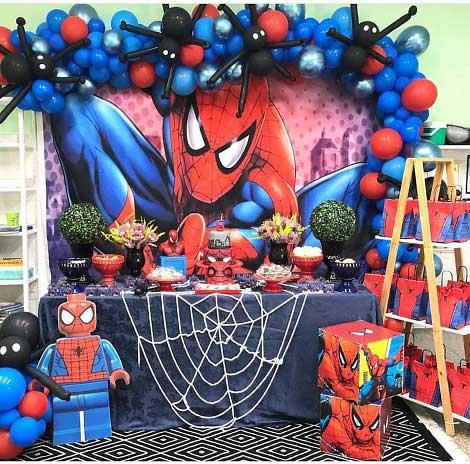 عکس تم تولد مرد عنکبوتی برای پسران , تم تولد پسرانه مرد عنکبوتی