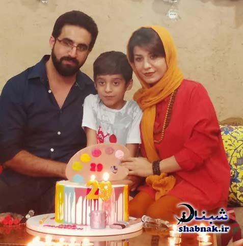 عکس های فاطمه عبادی و همسرش و پسرش