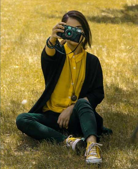 عکس پروفایل عکاسی دخترانه , عکس دختر عکاس