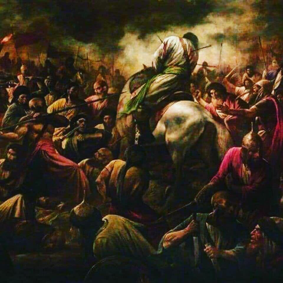 تصویر نقاش ایتالیایی از واقعه عاشورا