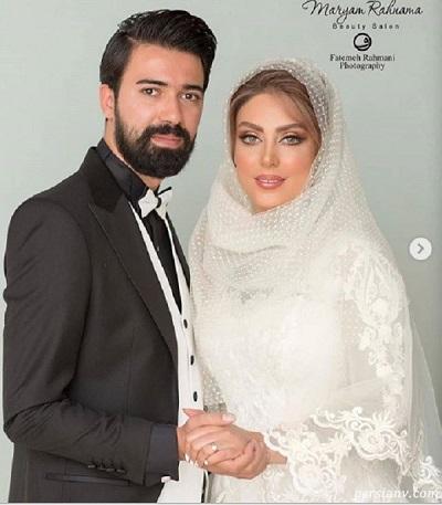 عکس ازدواج نلیوفر شهیدی و همسرش