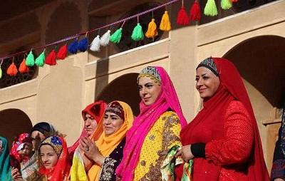 تصاور جالب نیلوفر شهیدی در مینی سریال تاراز