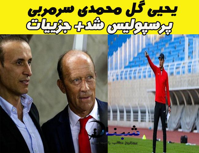 یحیی گل محمدی سرمربی پرسپولیس شد + جزییات خبر